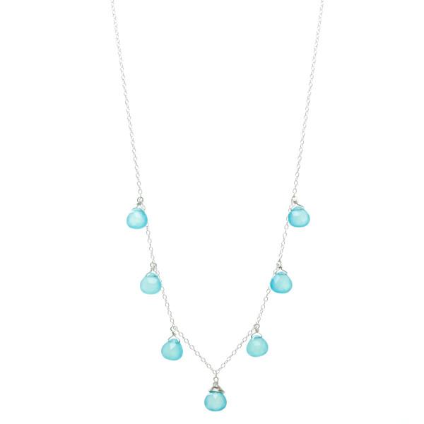 Chalcedony Petal Necklace